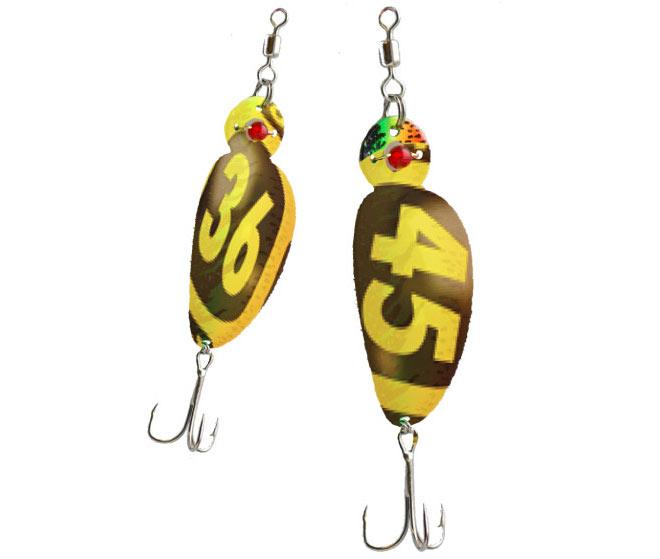 Разработка корпоративных подарков для Гослото. Рыболовные блесны. Удачного клева!