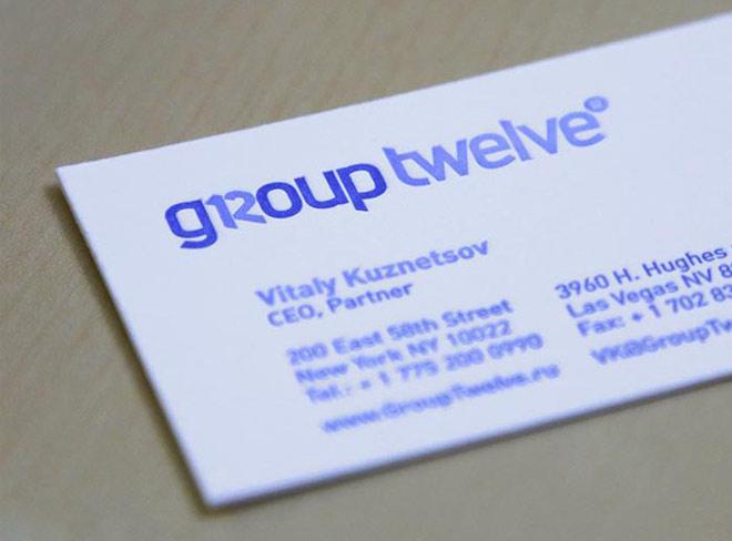 Разработка фирменного стиля Group Twelve