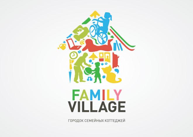 Создание логотипа для Family Village. Гармоничный логотип.