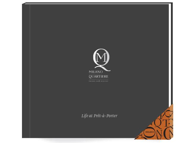 Буклет-презентация для жилого комплекса. Дорогой буклет выдержан в духе высокой моды.